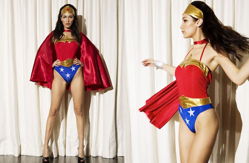 Bella Hadid Transforms Into Wonder Woman for LOVE Clip