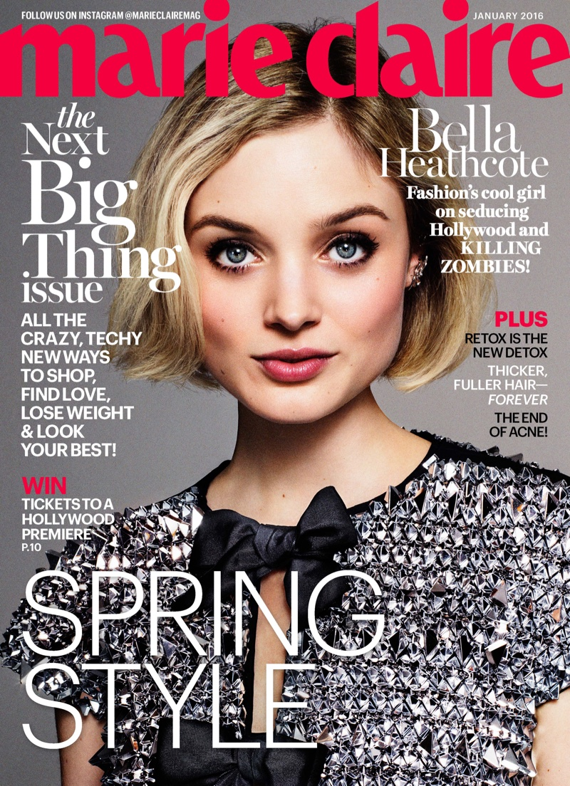 Bella Heathcote on Marie Claire January 2016 cover