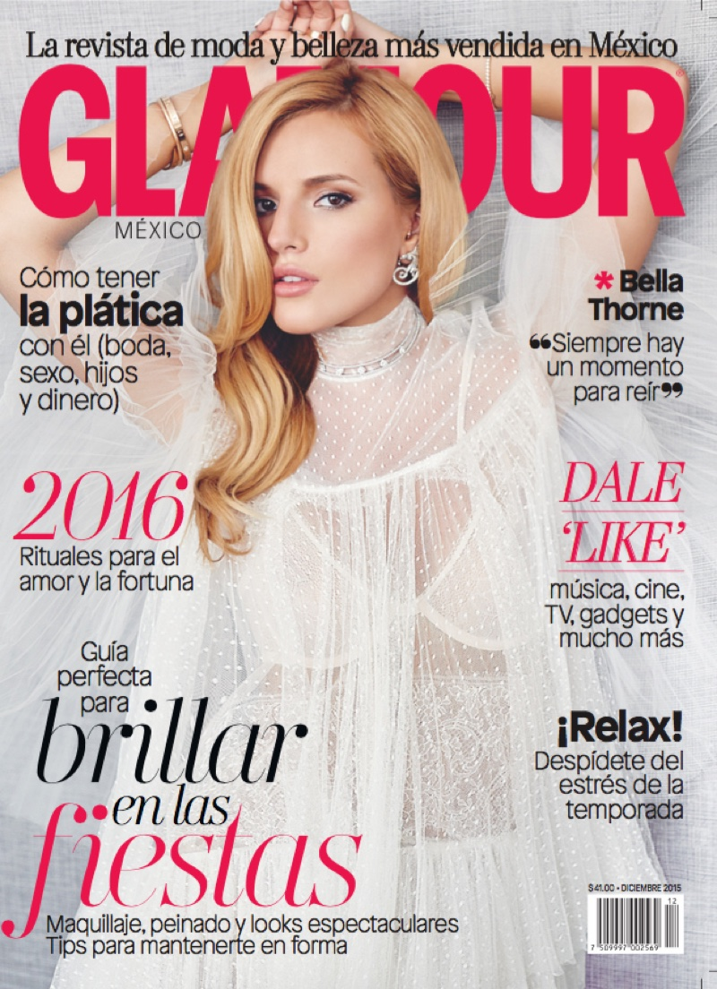 Bella Thorne on Glamour Mexico December 2015 cover