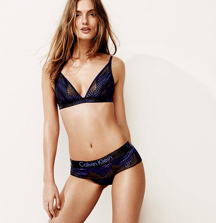 d3cde1dd10a Calvin Klein Underwear Dual Tone Triangle Bra