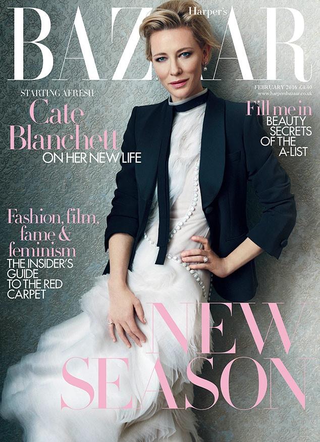 Cate Blanchett on Harper's Bazaar UK February 2016 cover