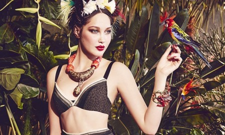 The lingerie brand gets inspired by a tropical setting for the feature
