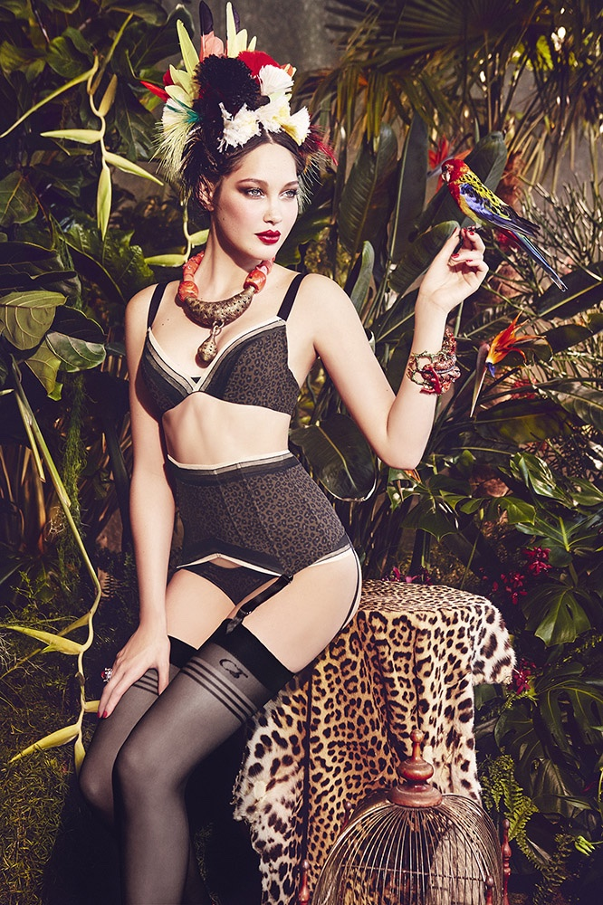 Tropical Heat: Ellen Von Unwerth Captures Chantal Thomass' Latest Lingerie
