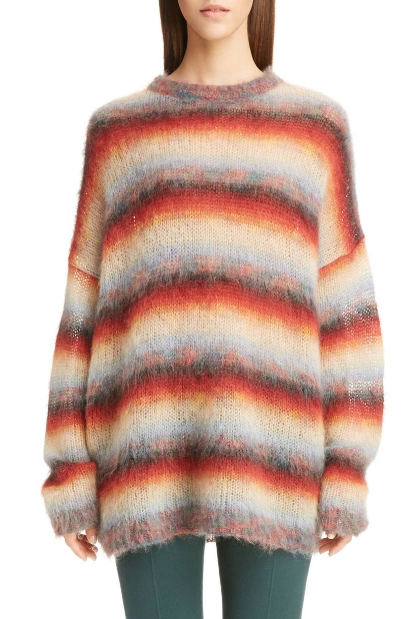 Chloe Mohair Blend Dégradé Stripe Sweater $1,150