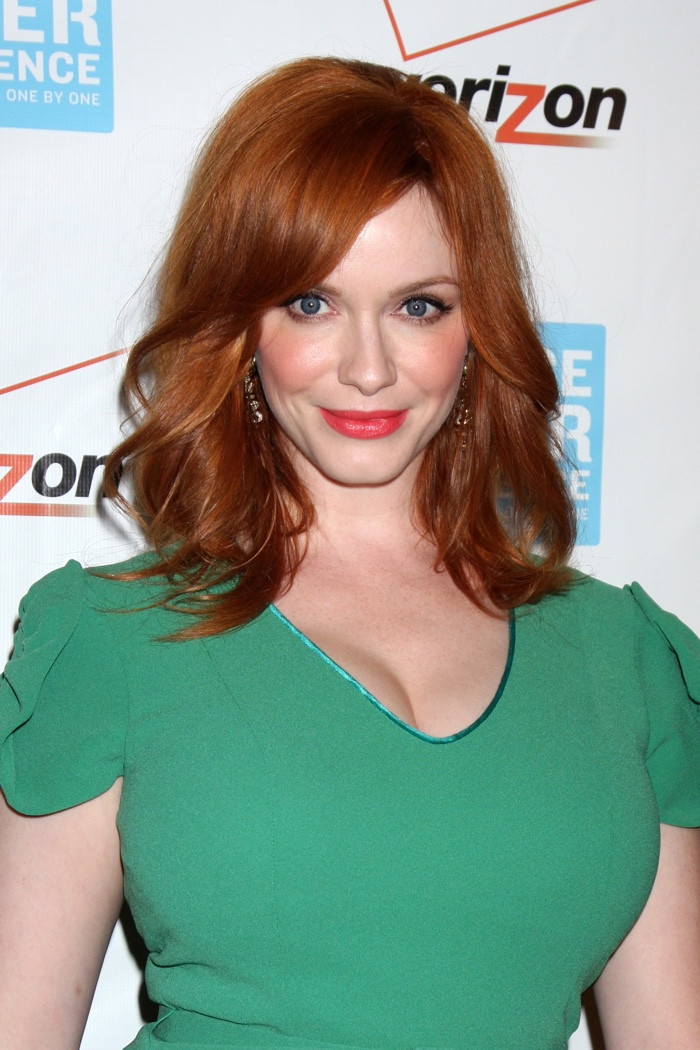 'Mad Men' star Christina Hendricks rose to fame for her fiery auburn locks. Photo: Helga Esteb / Shutterstock.com
