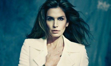 Cindy Crawford poses for Omega Watches advertisement