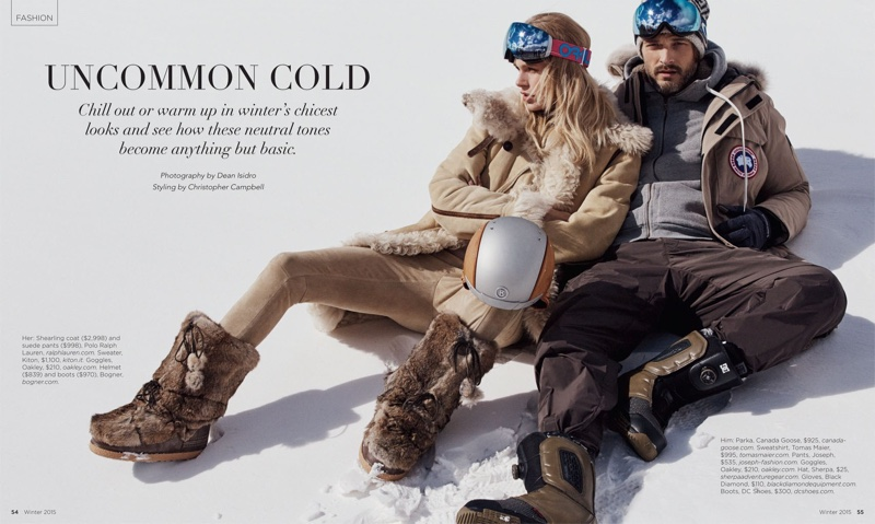 Fabienne Hagedorn and Ben Hill model winter style for Luxury Magazine