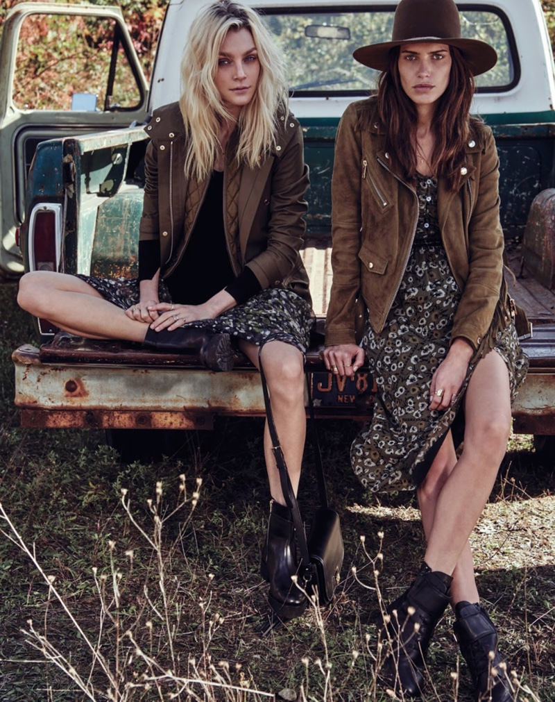 Jessica Stam Amanda Wellsh Wear Glam Country Style In W