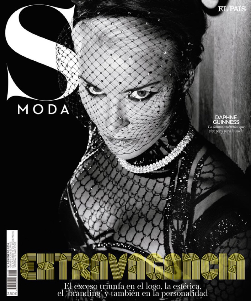 Daphne Guinness on S Moda's January 2016 cover photographed by Markus&Koala