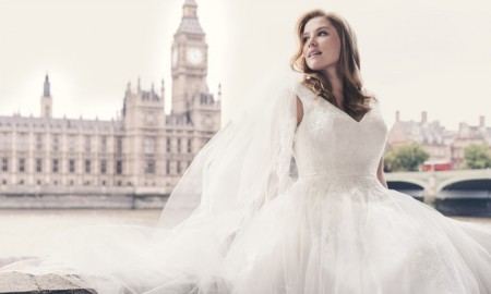 In December 2015, David's Bridal unveiled its first campaign starring a plus-size model. Captured in London, Mercy Watson wore gorgeous wedding dresses.