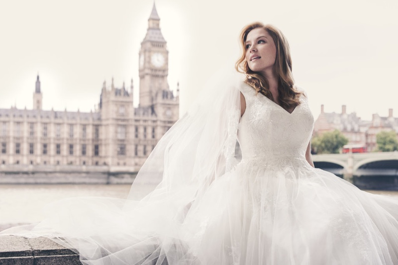 David's Bridal Features a Plus-Size Model in New Campaign