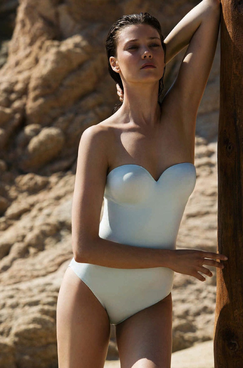 Siren Song - Diana Moldovan Minimal Swimsuit Looks Hit The Beach In BAZAAR Australia
