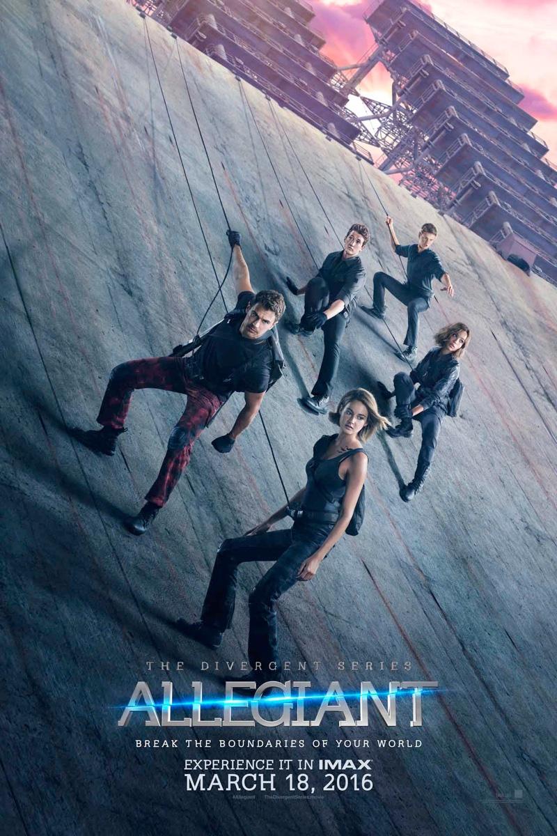 Allegiant movie poster with cast