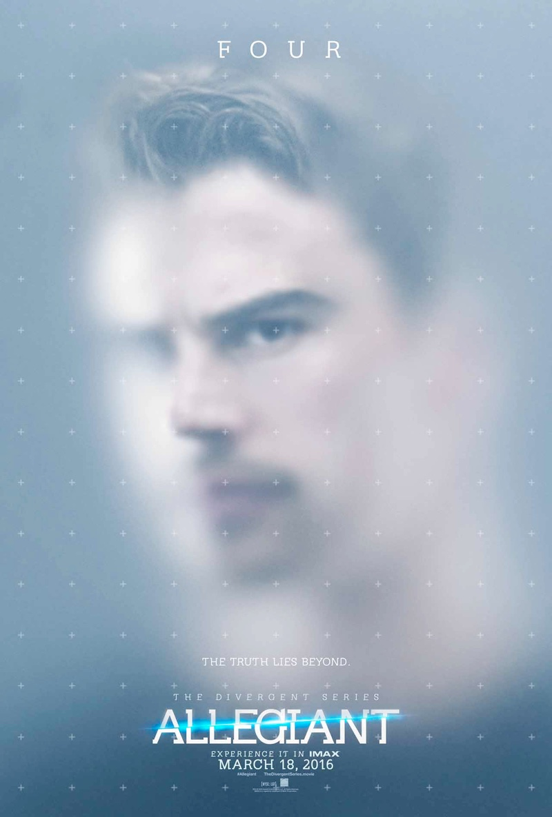 Theo James on Allegiant movie poster