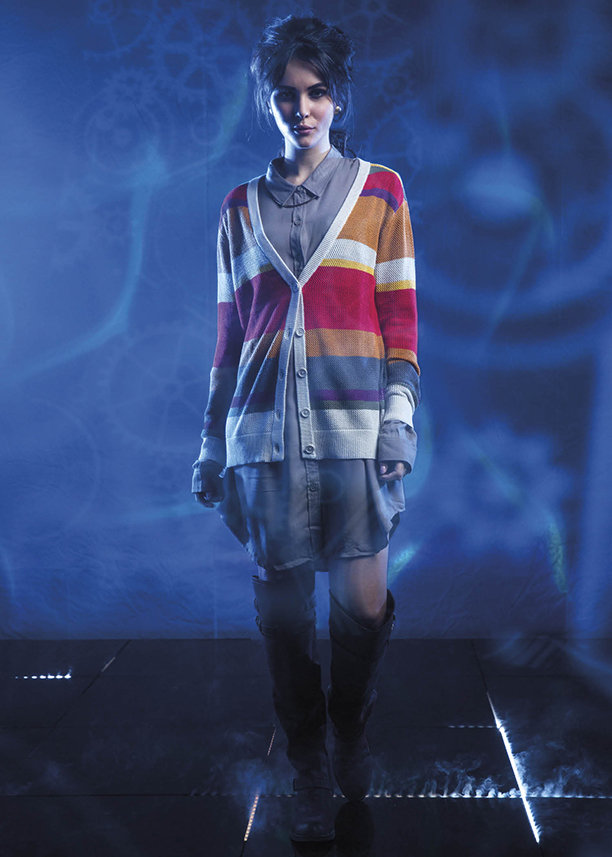 Doctor Who x Hot Topic Rainbow Striped Cardigan