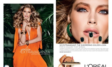 Doutzen Kroes stars in L'Oreal Paris holiday 2015 makeup campaign