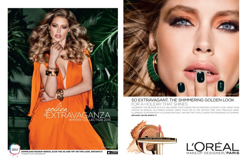 Doutzen Kroes Smolders in L'Oreal Paris' Winter Makeup Looks