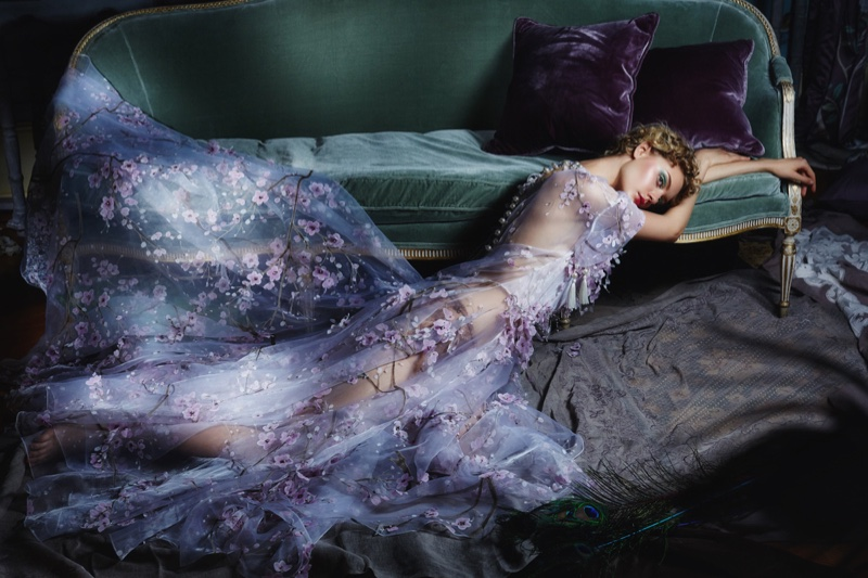 Dreamy Winter: ELLE Kazakhstan Features Enchanting Gowns & Dresses