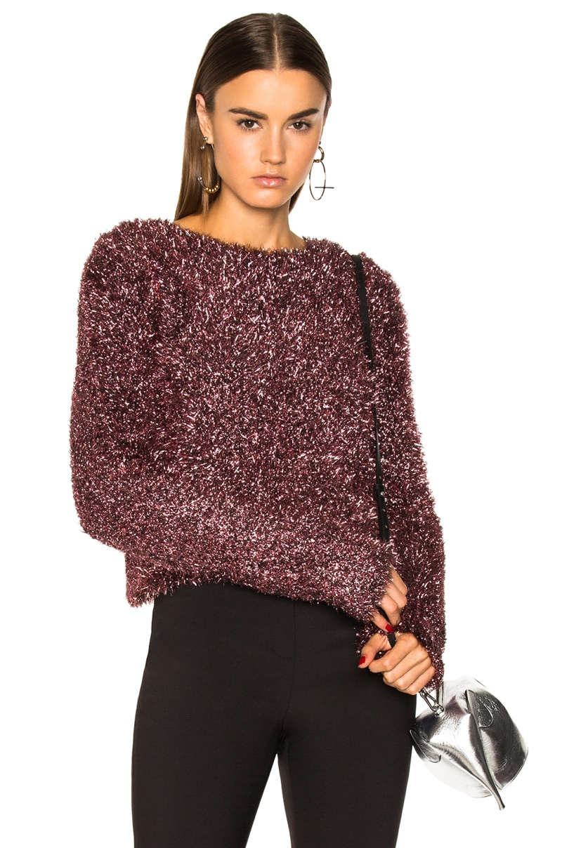 Ellery Vaporize Pink Metallic Sweater $1,095
