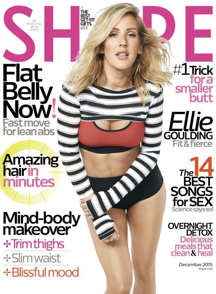 Ellie Goulding on Shape Magazine December 2015 cover