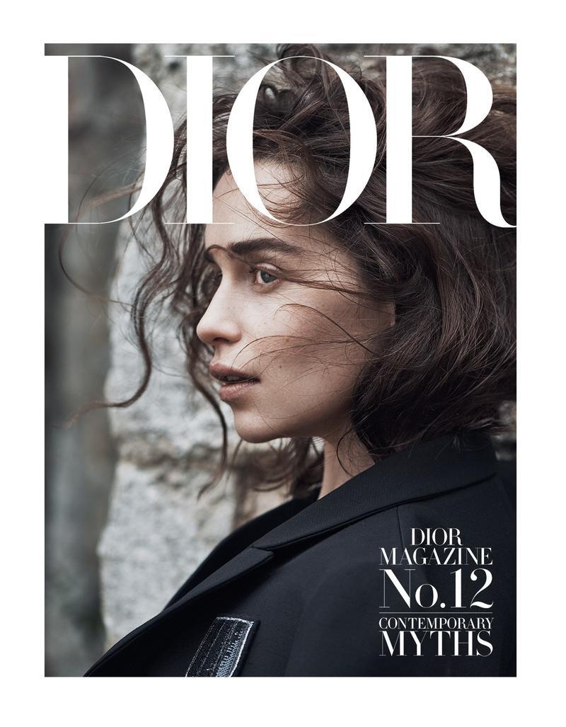 Emilia Clarke on Dior Magazine #12, 2015 cover