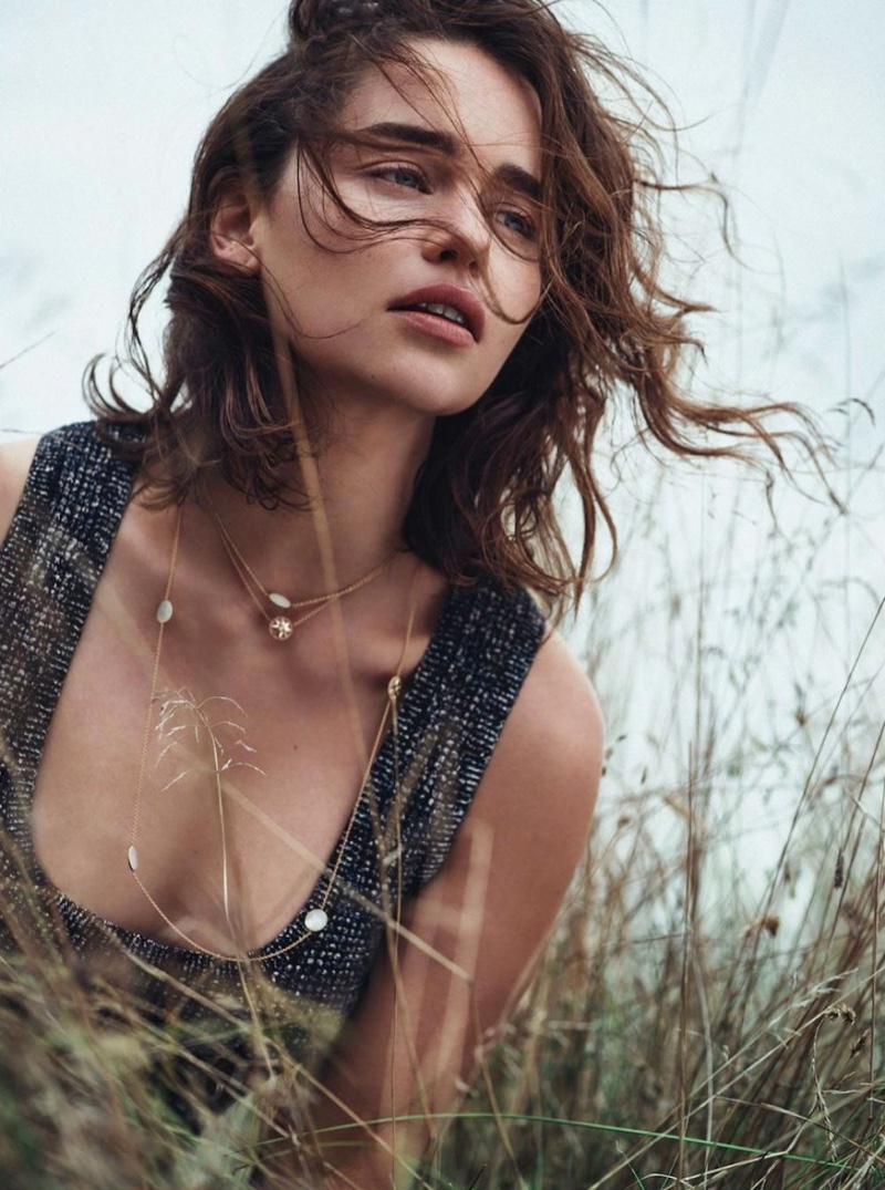Emilia Clarke is a Natural Beauty in Dior Magazine