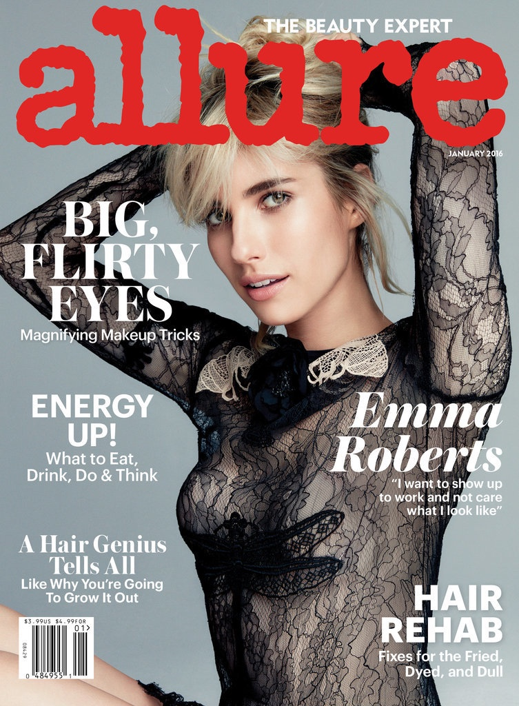 Emma Roberts Stars In Allure, Talks Her Lingerie January 2016 Campaign