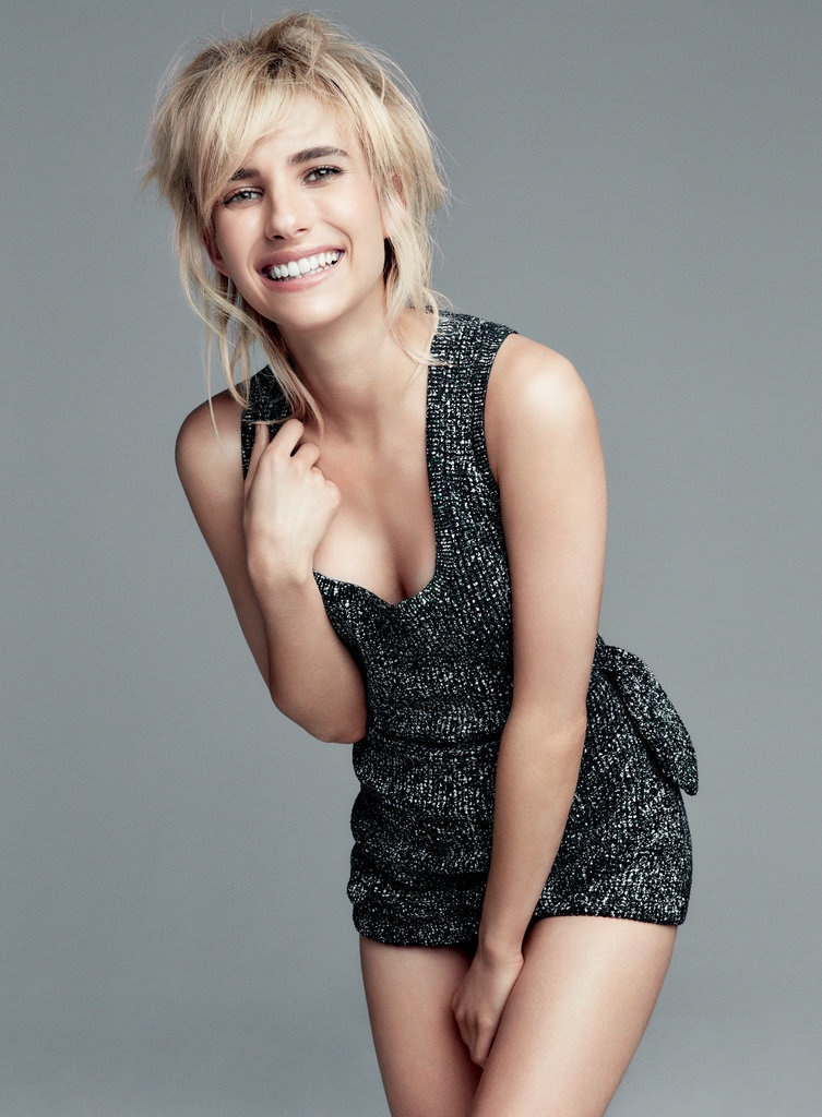 Emma sparkles in a metallic shorts set from Dior