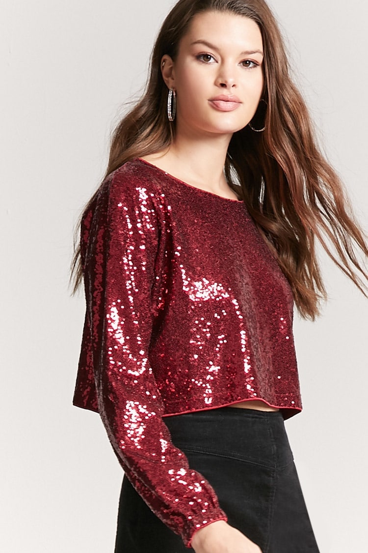 Forever 21 Sequin Mesh Top $18.99