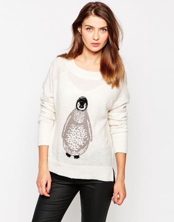French Connection Penguin Knit Sweater