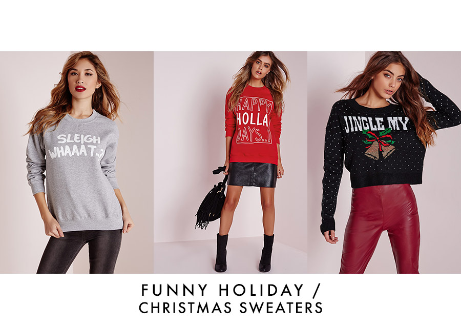 Funny Christmas 2015 Sweaters at Missguided Shop