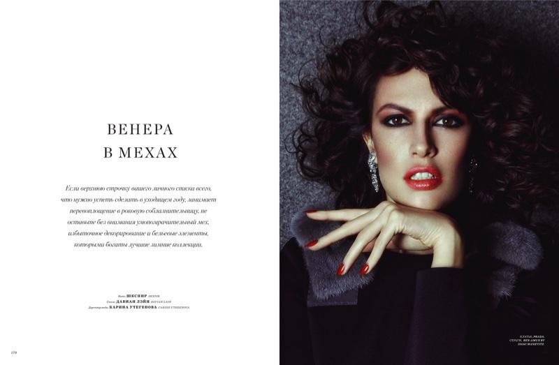 Fur Style Gets Sultry -  Sabrina Ioffreda For Harper`s Bazaar Kazakhstan December-January 2015.2016