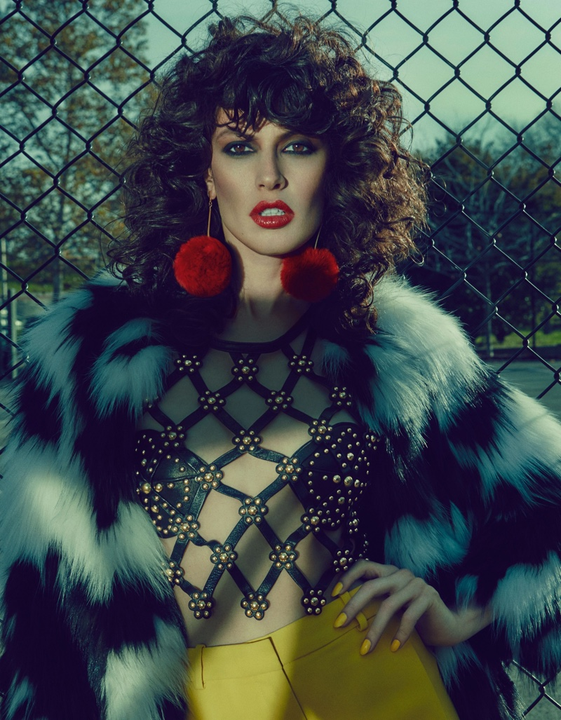 Fur Style Gets Sultry in Bazaar Kazakhstan Editorial