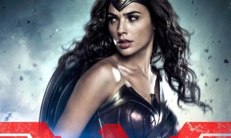 Gal Gadot as Wonder Woman on Batman v Superman poster
