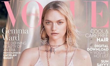 Gemma Ward on Vogue Australia January 2016 cover