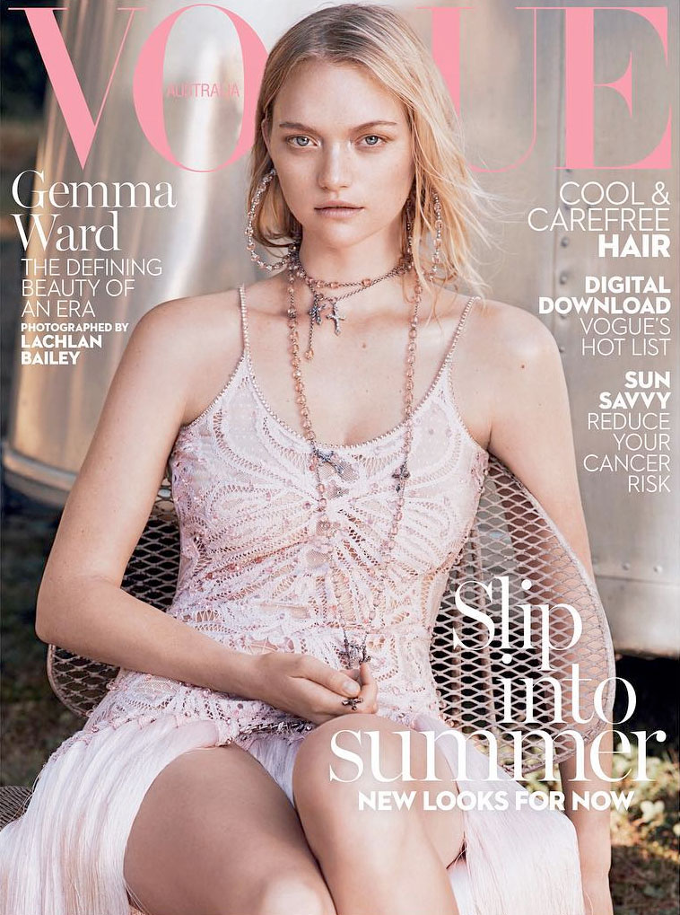 Gemma Ward Looks Absolutely Ethereal on Vogue Australia Cover