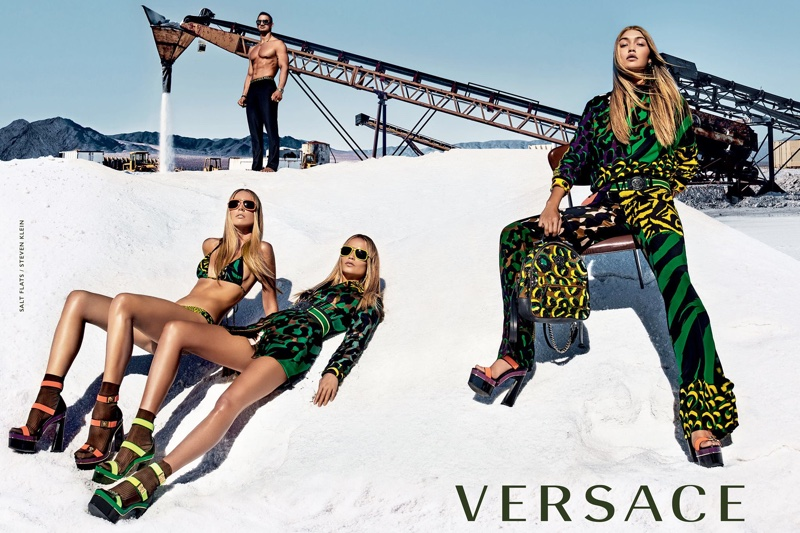 Gigi Hadid poses in first campaign for Versace