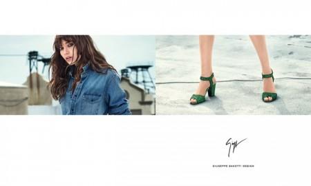 Grace Hartzel stars in Giuseppe Zanotti's spring-summer 2016 campaign