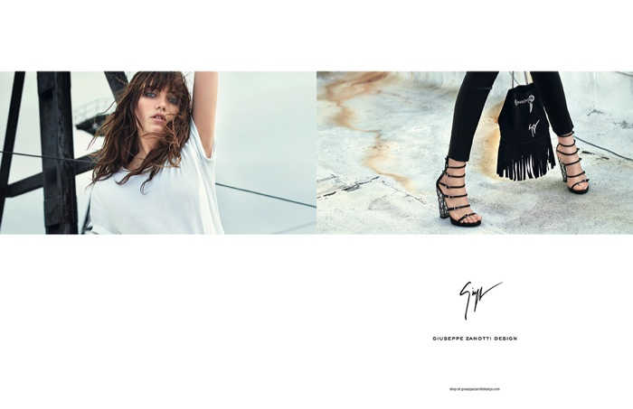 An image from Giuseppe Zanotti's spring-summer 2016 campaign