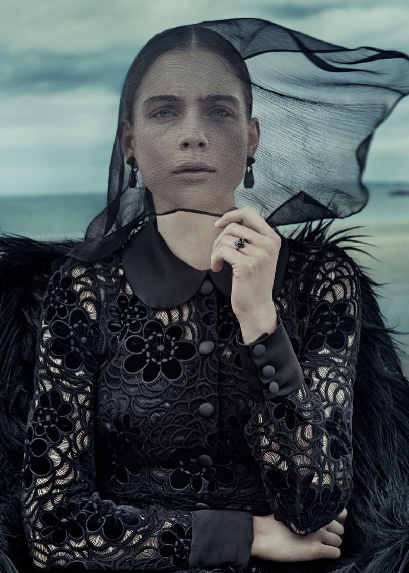Neo-Romantic: Dreamy Gothic Wardrobe Inspiration from ELLE Germany