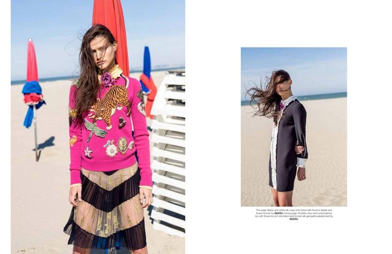 Goldfinger: Gucci's Resort Looks Hit the Beach in Sorbet Magazine