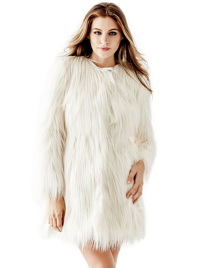 Guess Glam Faux Fur Coat