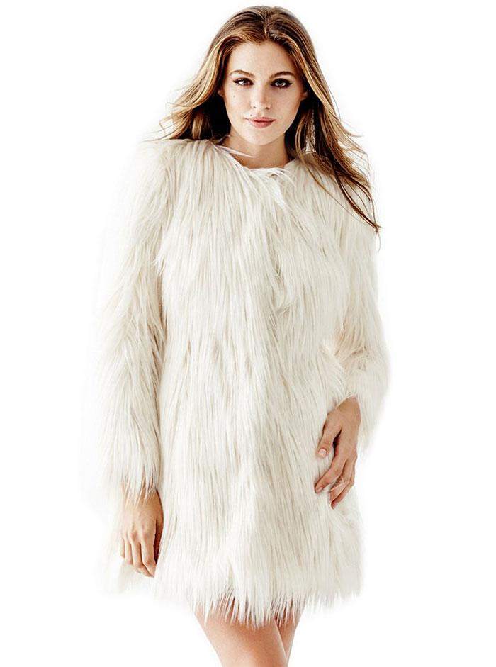 Guess Glam Faux Fur Coat