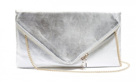 Guess Silver Envelope Clutch