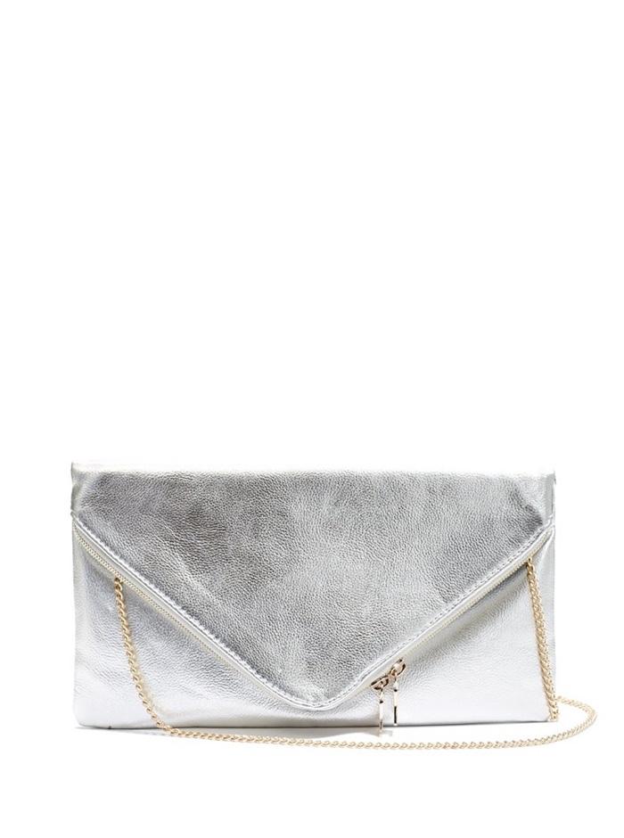 Envelope clutch silver : Cheap gold silver clutches