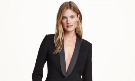 H&M Black Fitted Tuxedo Jacket