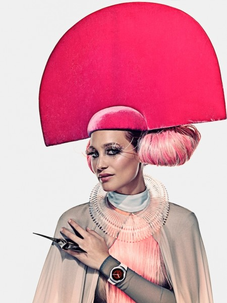 Hannah Davis Wears 'The Hunger Games' Fashion for Capitol Couture
