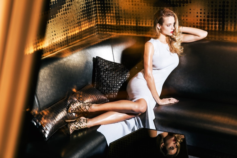 Hannah Ferguson Turns Up the Glam for Mojeh Magazine