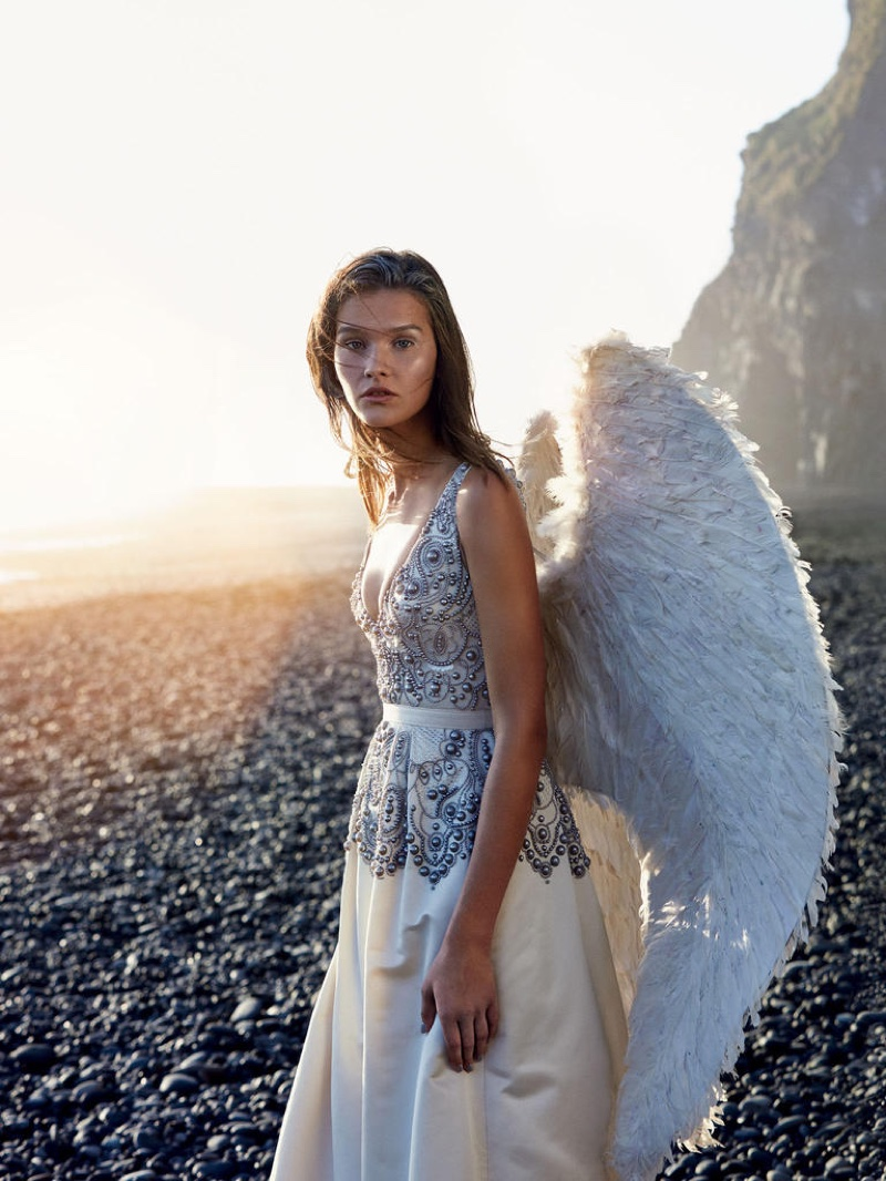Heavenly Creatures: Evening Wear Gets Ethereal in Harrods Magazine