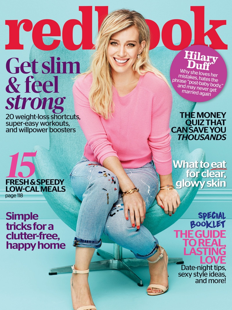 Hilary Duff Looks Ready For Spring In Redbook Magazine